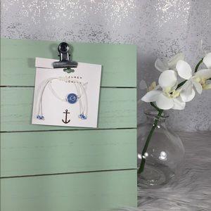 🆕 LC Lauren Conrad Blue & White Anchor Bracelet